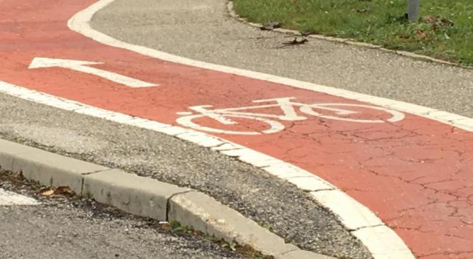 Voznica osebnega vozila na kolesarski stezi trčila v kolesarko
