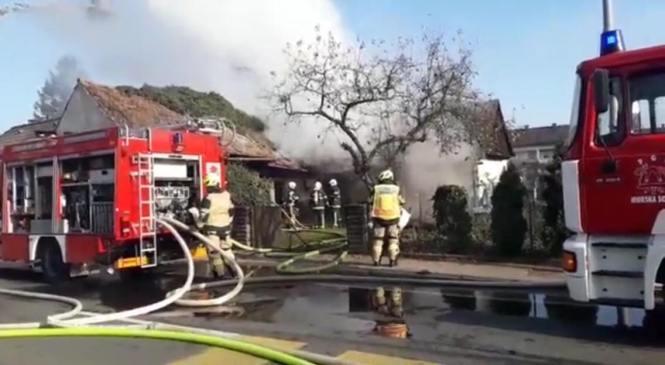 Požar v Murski Soboti nastal zaradi kratkega stika na električni napeljavi