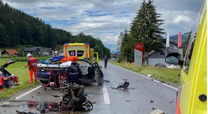 V prometni nesreči pri Bukovski vasi šest poškodovanih oseb