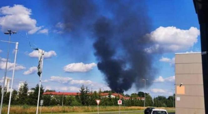 Zagorelo na odprtem odlagališču za kosovne odpadke