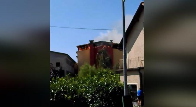 VIDEO: Zagorelo ostrešje sušilnice hmelja v Vidmu pri Ptuju