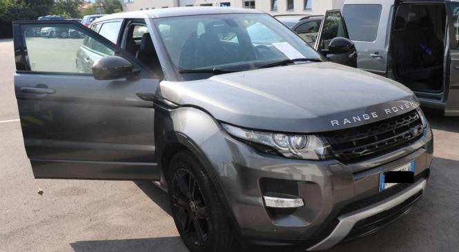 Odkrito ukradeno vozilo Range Rover Evoque