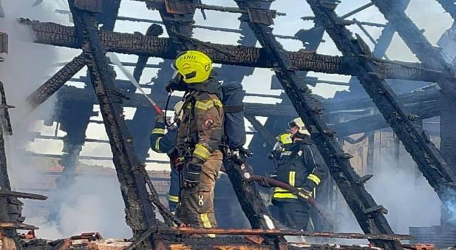 Moravske Toplice: V požaru na stanovanjski hiši za 25 tisočakov škode