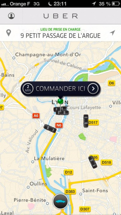 uber paris app