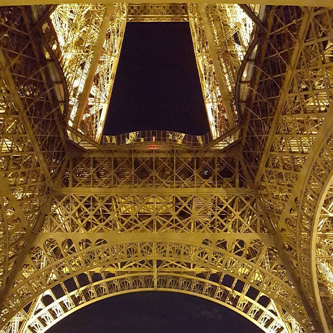Eiffel Tower from below Paris