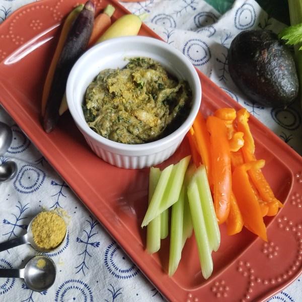 creamy artichoke and kale dip