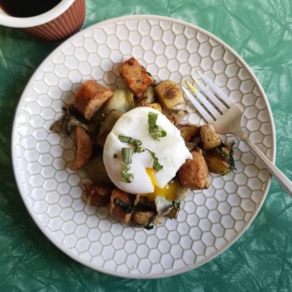 So many feels for todays breakfast  forkintherd bratwurst skillethellip