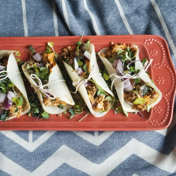 breakfast tacos with jicama tortillas