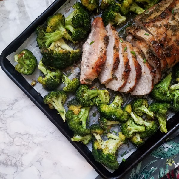 sheet pan ranch pork loin