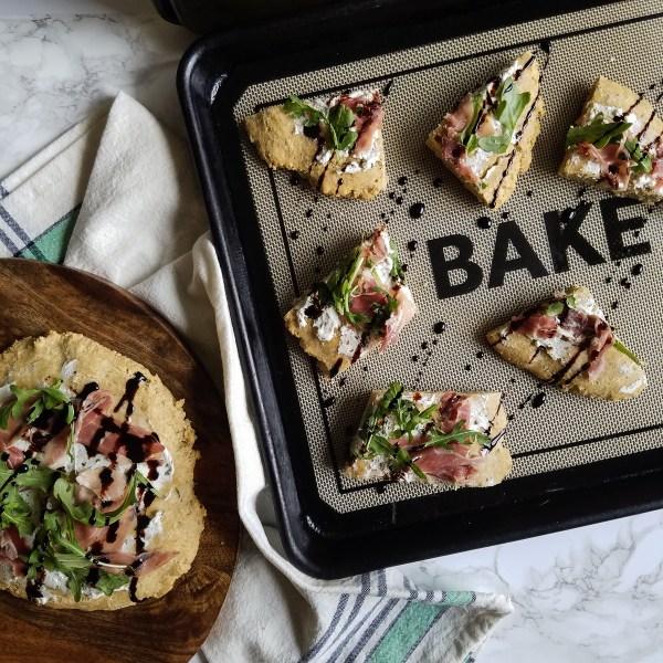 prosciutto and arugula flat bread