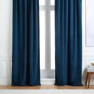 west elm worn velvet curtain