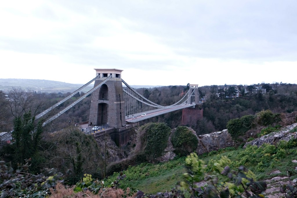 Picture of the suspension bridge clifton.  48 hours in clifton itinerary.