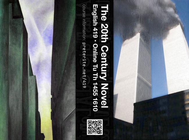 The 20th Century Novel flyer