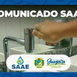 Manutenção emergencial do SAAE suspenderá abastecimento d'água em alguns bairros de Juazeiro nesta quinta