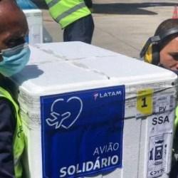 Bahia recebe mais de 370 mil doses da Coronavac neste sábado