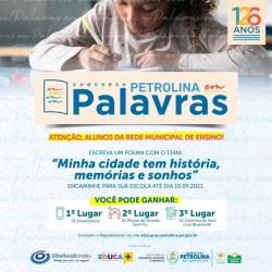 Concurso incentiva estudantes de Petrolina a produzirem textos sobre aniversário da cidade