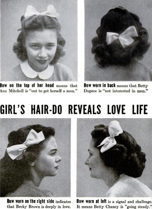 Girl's Hair-Do Reveals Love Life