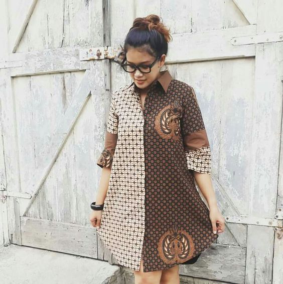 AMAZING ANKARA SHIRT DRESS