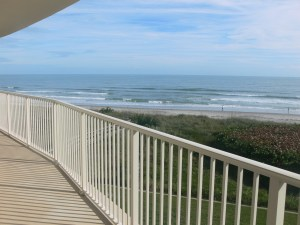 Ocean View From Balcony at The Mark in Cocoa Beach Florida
