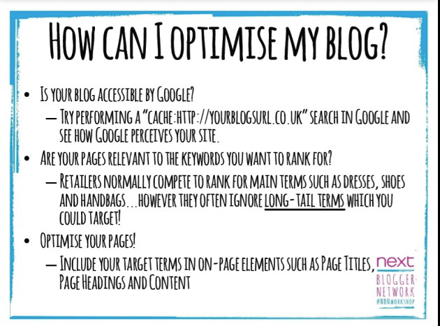 How Can I Optimise My Blog