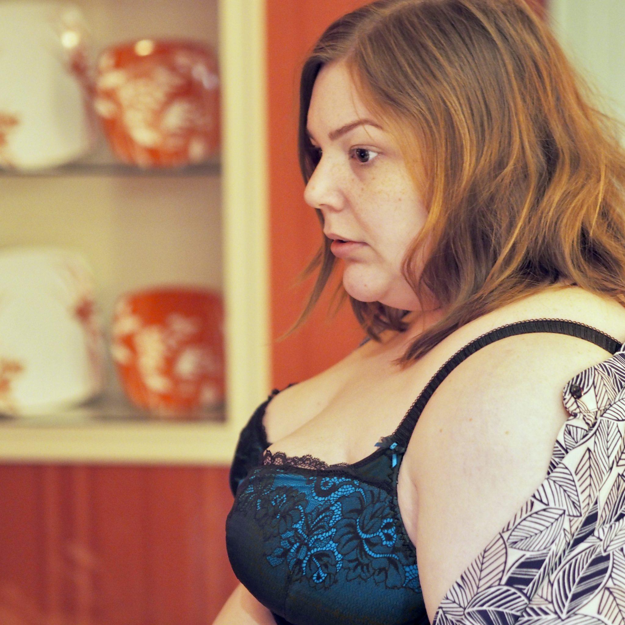 plus size lingerie review - Elomi - Pretty Big Butterflies