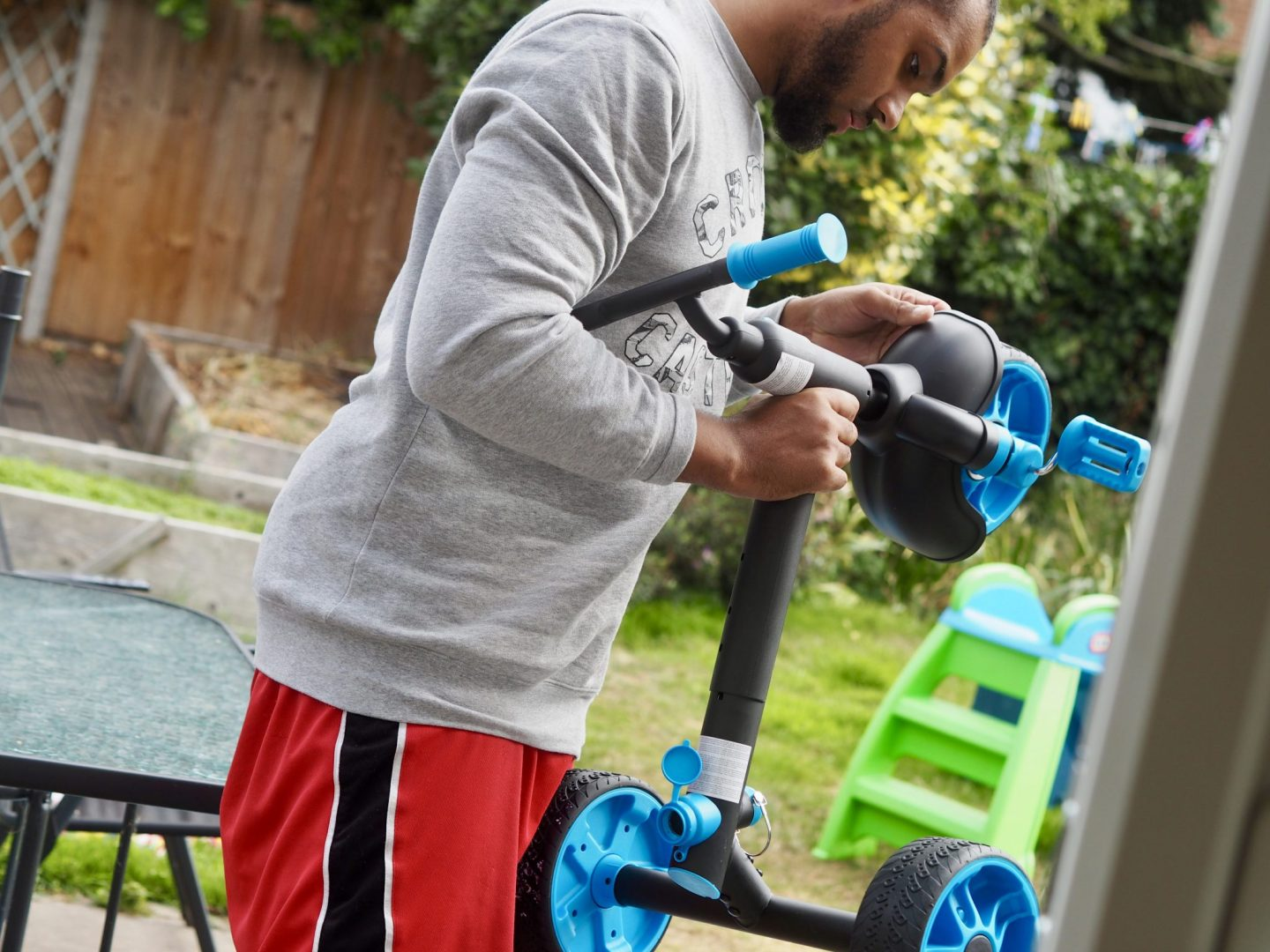 Setting up a Little Tikes Trike