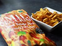 Kelly Sweet Potato Crisps Review - pretty big butterflies
