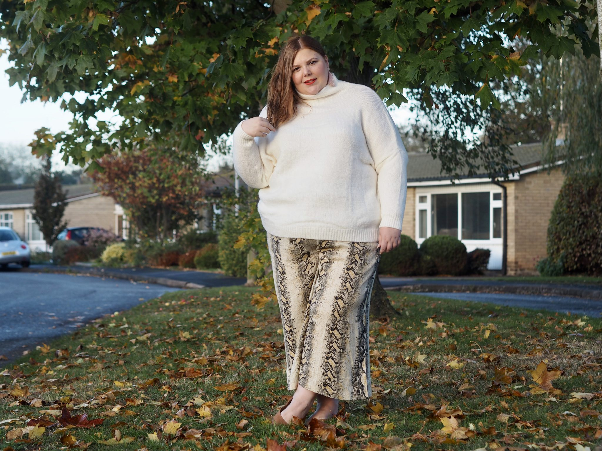 plus size snake print - pretty big butterflies