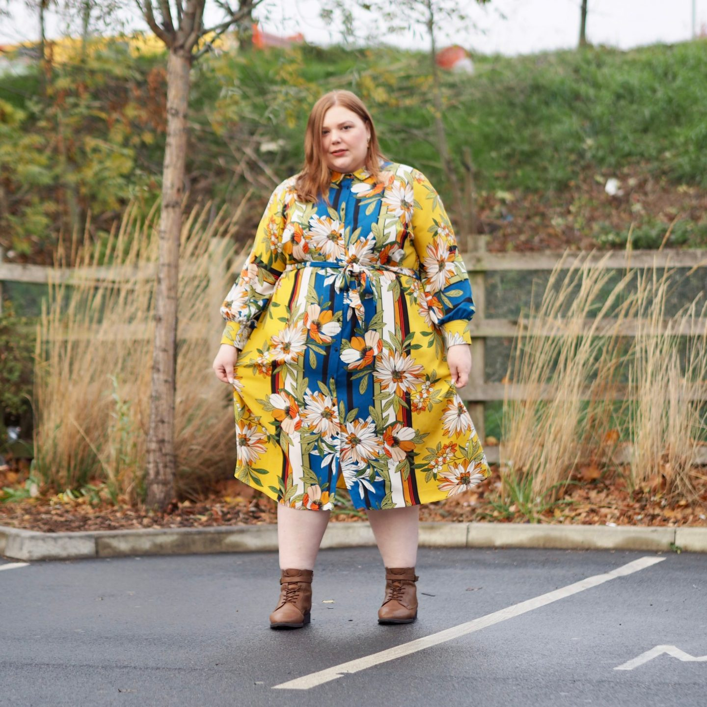 Evans Autumn Midi Dress Plus Size Review - Pretty Big Butterflies