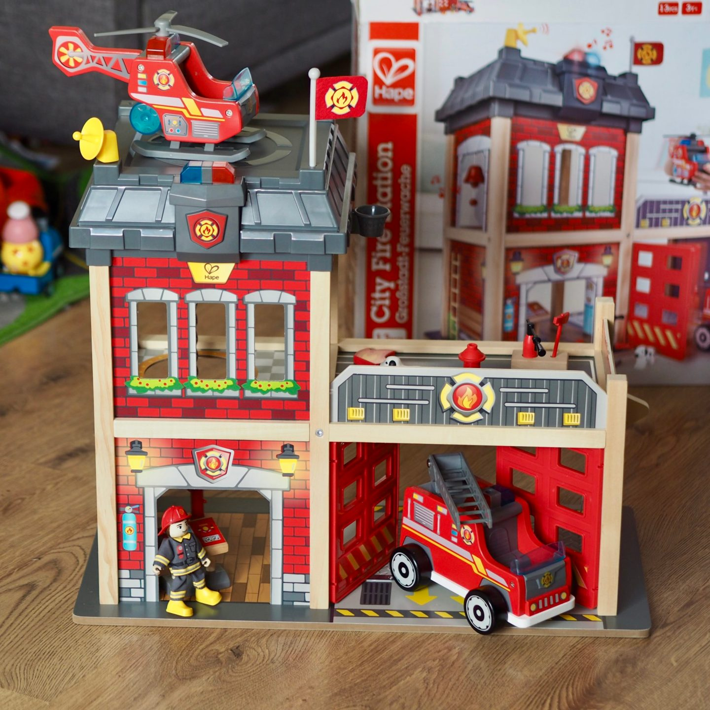 Wooden Fire Station from Hape - review