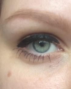 zonder uitgelopen make-up
