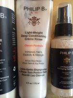 voorkant Philip B Light-Weight Deep Conditioning Creme Rinse en pH Restorative Detangling Toning Mist