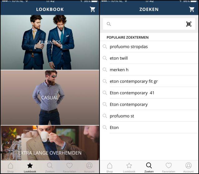 Eerste overhemden app van Nederland