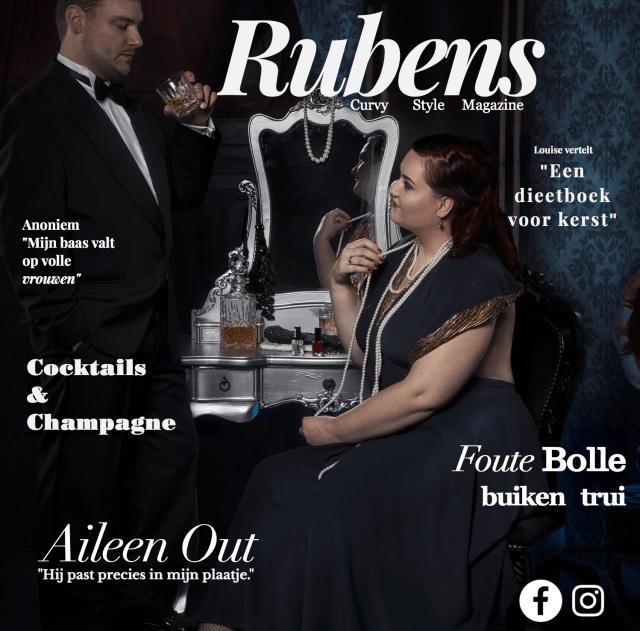 Ik sta op de cover van Rubens magazine!