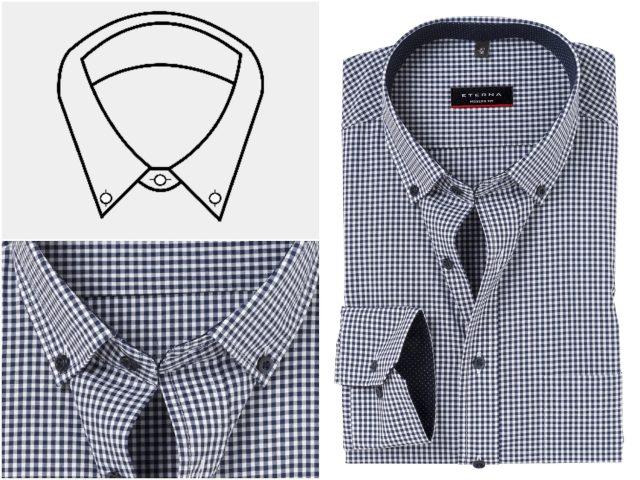 Vijf verschillende boorden bij overhemden