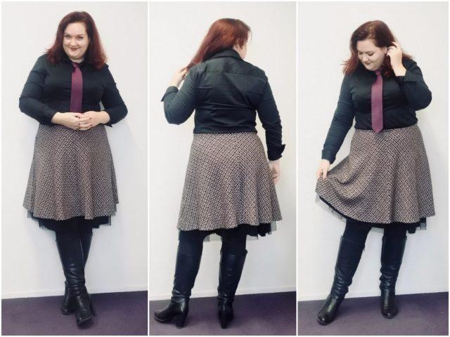 Ik droeg werkkleding dat geïnspireerd was door een influencer