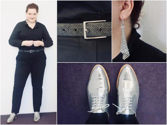 3x kerstborrel outfit met zilveren schoenen (incl. winactie)