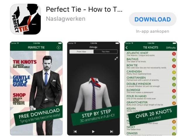 Getest: 9 apps voor het knopen van je das