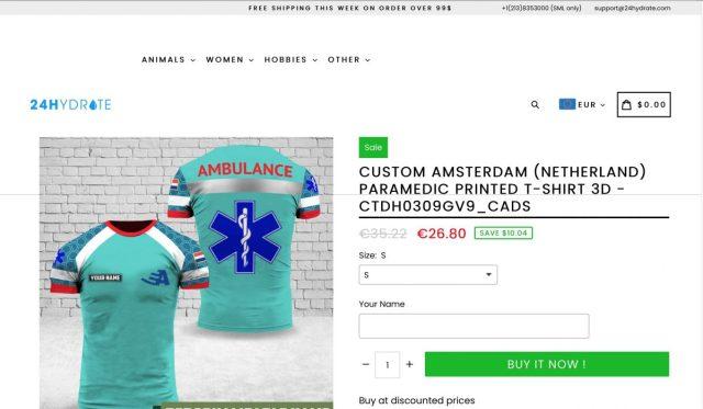 Ambulance shirt Amsterdam