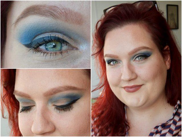 Blauwe oogschaduw look