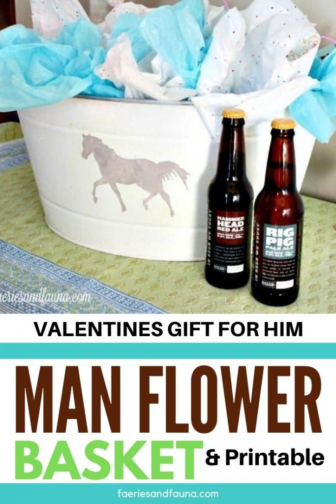 Bucket Of Beer Valentine S Day Man Flowers With Printable