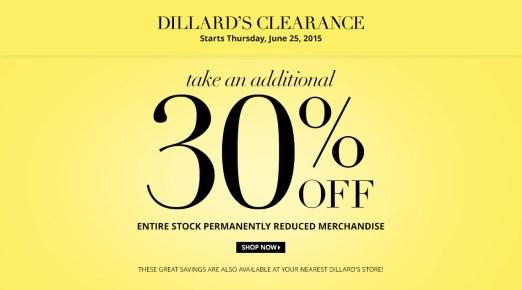 dillars clearance 2015