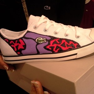 lacoste custom shoes