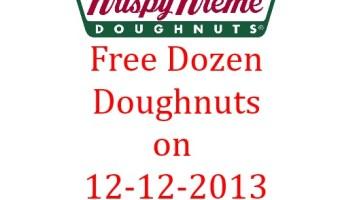 Krispy Kreme: Free Dozen of Doughnut on 12-12