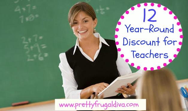 12 year round teacher discount