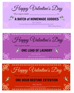 valentine love coupon