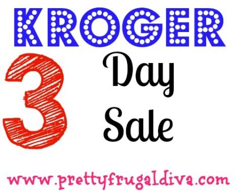 3 day kroger sale