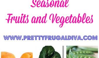 May Seasonal Fruits and Vegetables