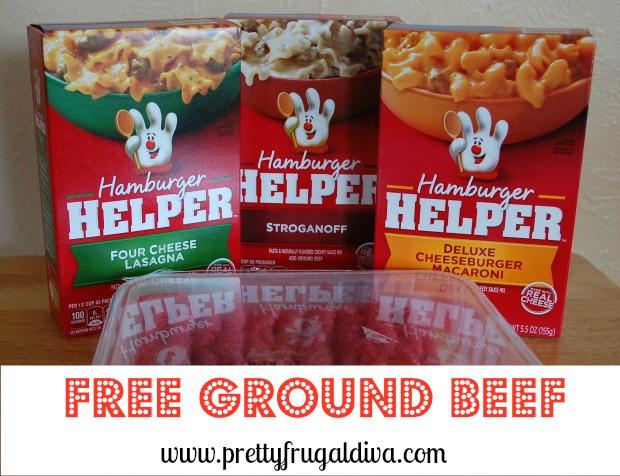 Free Ground Beef wyb 3 Hamburger Helper