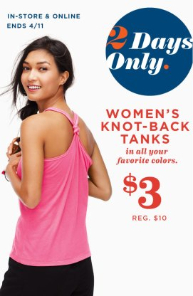 old navy womans knot back tanks